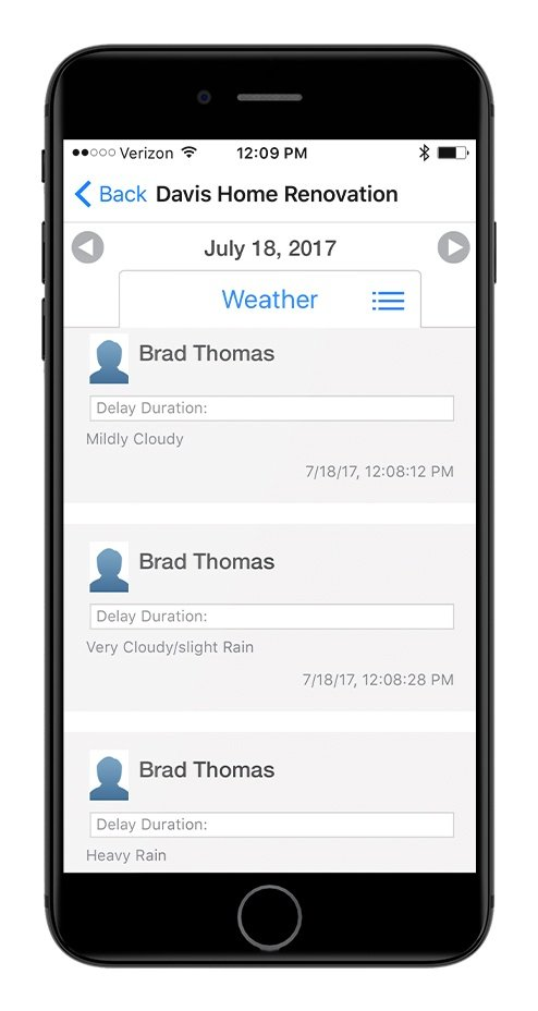 Daily Log App - Weather Tracking