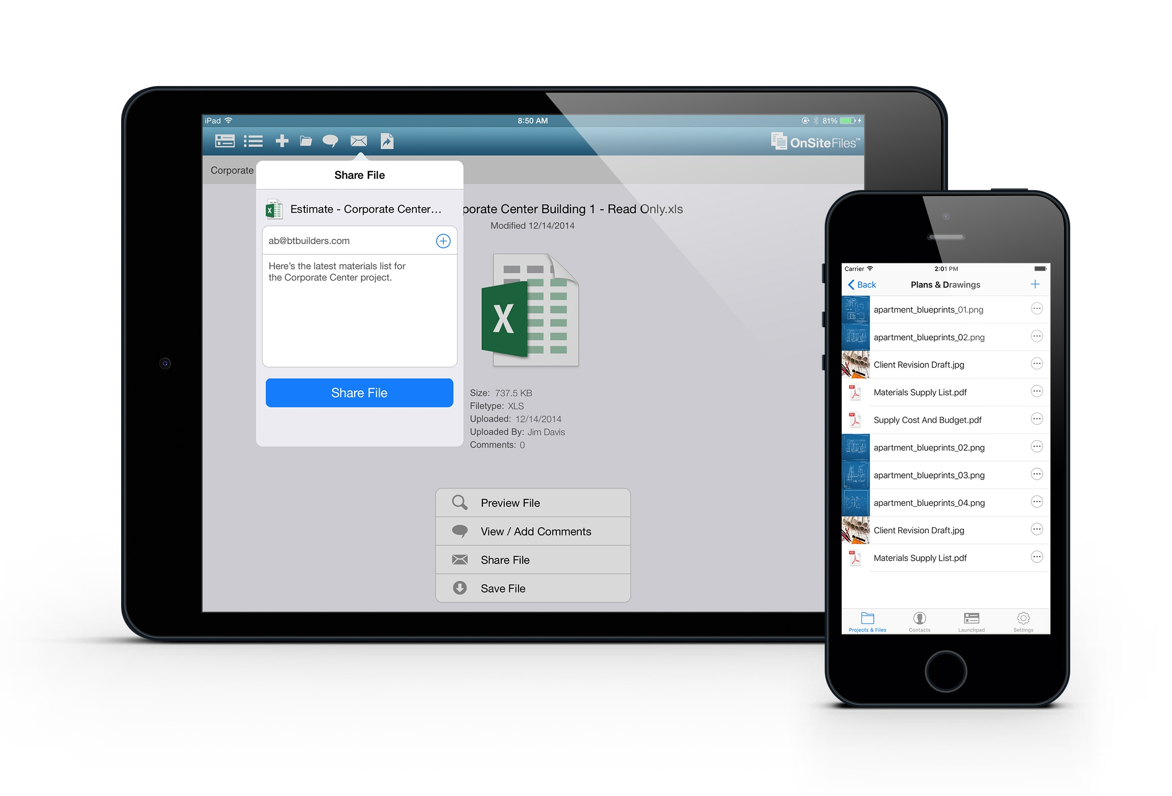 OnSite Files - Mobile App for Construction Documents